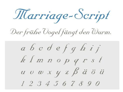 Gratis-Schriften zum Herunterladen Marriage Script ©COMPUTER BILD