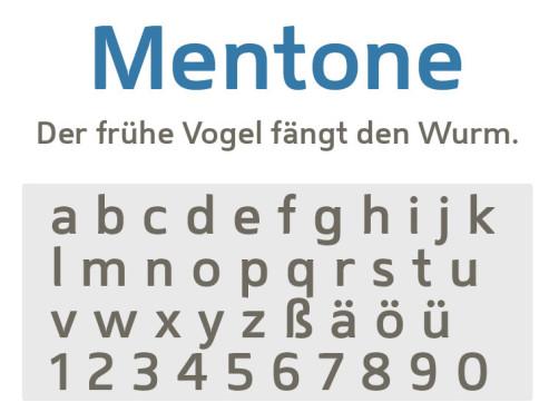 Gratis-Schriften zum Herunterladen: Mentone ©COMPUTER BILD