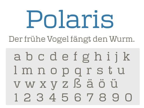Gratis-Schriften zum Herunterladen: Polaris ©COMPUTER BILD