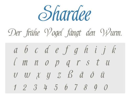 Gratis-Schriften zum Herunterladen: Shardee ©COMPUTER BILD