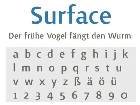 Gratis-Schriften zum Herunterladen: Surface ©COMPUTER BILD