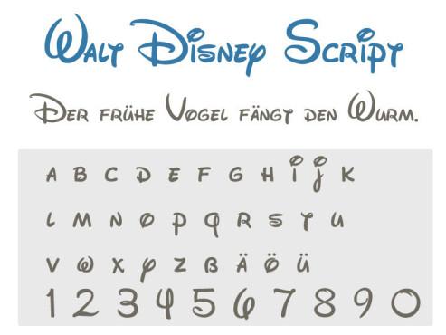 Gratis-Schriften zum Herunterladen: Walt Disney Script ©COMPUTER BILD