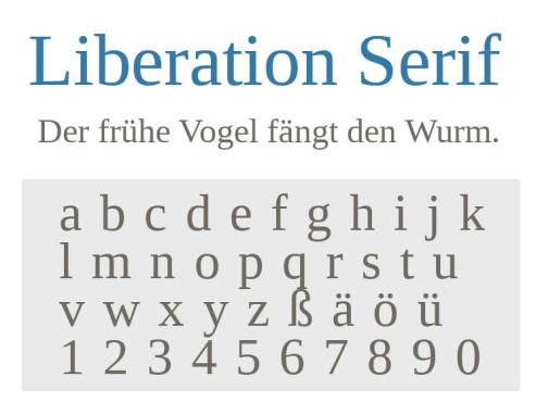 Liberation Serif ©COMPUTER BILD