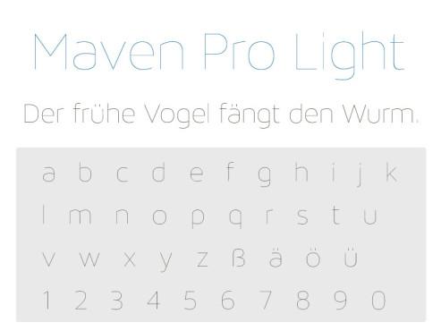 Maven Pro Light ©COMPUTER BILD