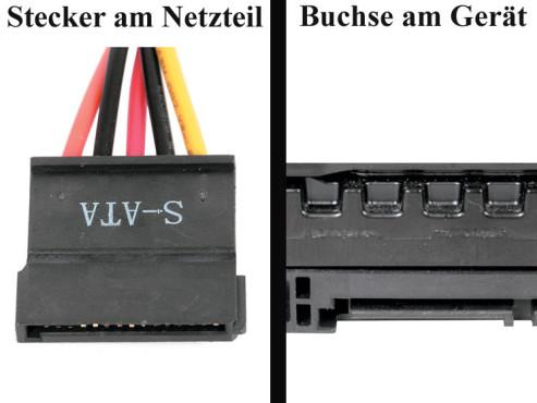 Bildergalerie �Die Stecker von Netzteilen� Laufwerke mit SATA-Anschluss
