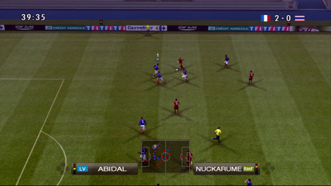Fußballspiel Pro Evolution Soccer 2009: Attacke