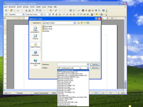 OpenOffice.org 3.0: OpenDocument (ODF)