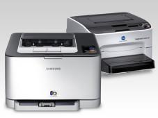 Test: Farblaserdrucker ©Konica Minolta, Samsung