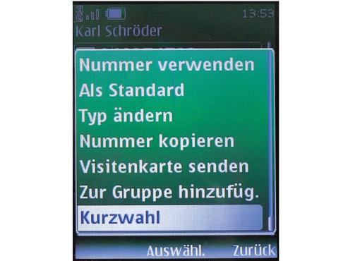 Handy-Kurzwahlen nutzen
