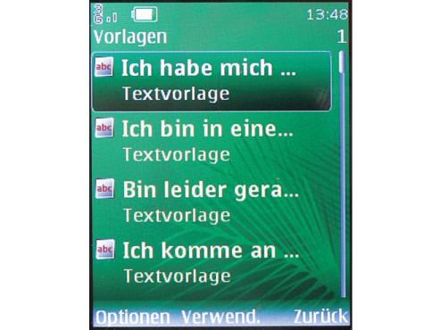 SMS-Vorlagen nutzen