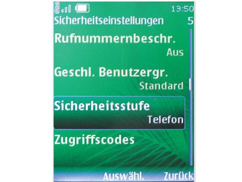 Telefon f�r andere SIM-Karten sperren
