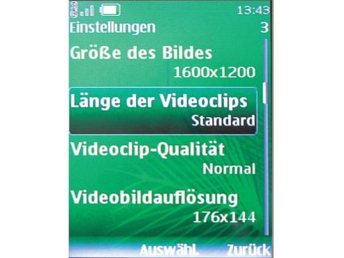 Videolänge vorwählen