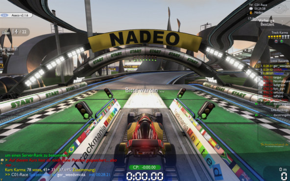 Trackmania Nations: Start