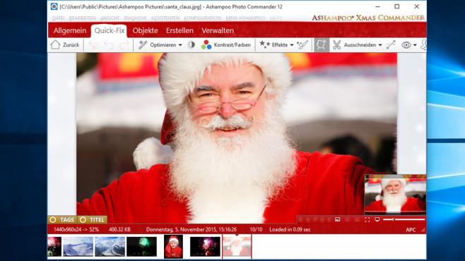 Ashampoo Photo Commander - Kostenlose Weihnachtsedition: Fotos in Szene setzen ©COMPUTER BILD