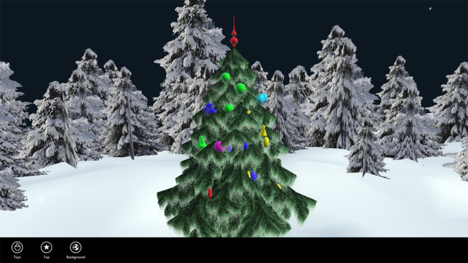 Christmas Tree 3D (App f�r Windows 10 & 8) : Baum virtuell schm�cken © COMPUTER BILD