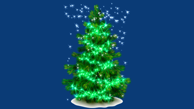 Green Christmas Tree: Tannenbaum für den Desktop