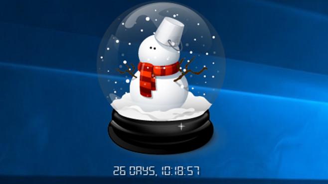 Snow Globe Countdown: Tage zählen mit Schneekugeln ©COMPUTER BILD