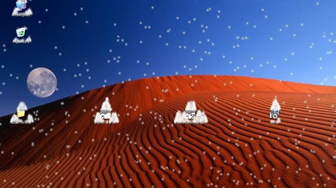 Snow3: Virtueller Schneefall f�r den Desktop ©COMPUTER BILD