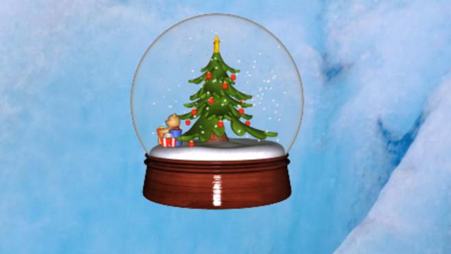 SnowGlobe 3D: Schneekugel f�r den Desktop ©COMPUTER BILD