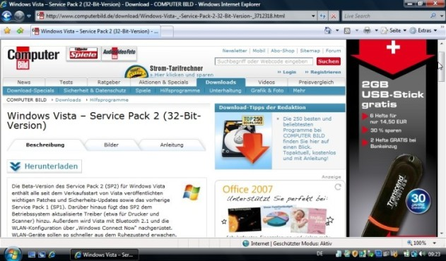 Windows Vista Service Pack 2 Beta: Download
