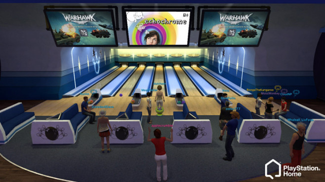 Playstation Home: Bowling-Bahn