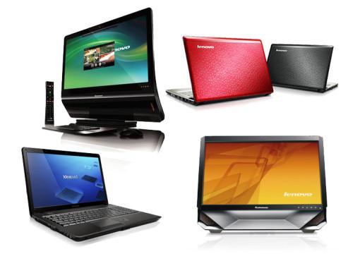 Lenovo Ideapad U350, U550, Ideacenter A600, B500: Notebook und Bildschirm-Computer