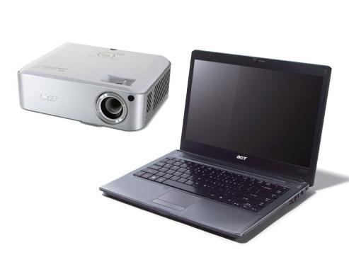 Notebook Aspire 4810TG und Projektor H7530D von Acer