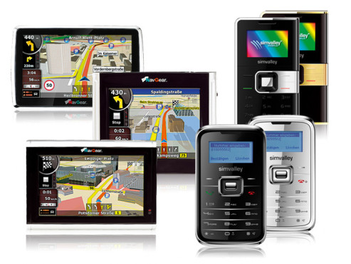 Pico Inox, Pico Color, StreetMate GT-35T-3D, GT-43T-3D, GT-50T-3D: Handys und Navigationsgeräte von Pearl
