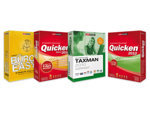 Quicken 2010, Quicken 2010 deluxe, Taxman 2010, Büro Easy 2010: Programme von Lexware