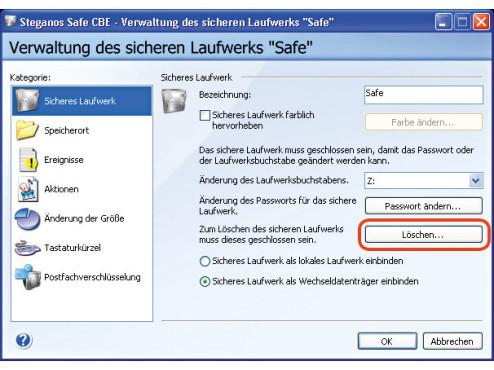 Anleitung: Datentresor auf der Festplatte erstellen