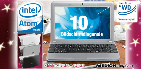 Netbook Medion Akoya Mini E1210