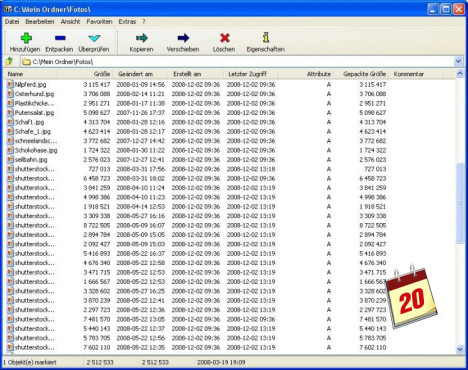 Software-Kalender: 7-Zip
