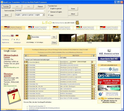 Software-Kalender: Leo Translator