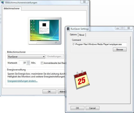 Software-Kalender: Run Saver