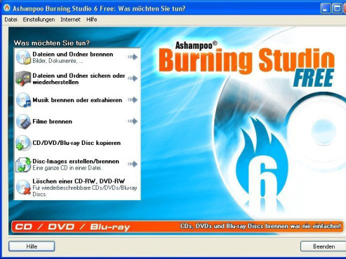 Ashampoo Burning Studio 6 Free – Kostenlose Vollversion © COMPUTER BILD
