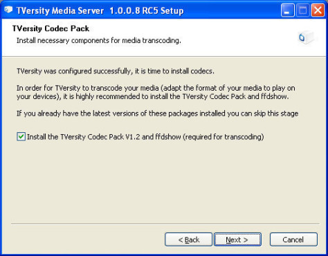 Tversity: Codec Pack