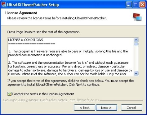 UltraUXThemePatcher: Windows XP modifizieren