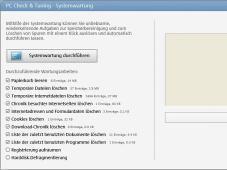 Magix PC Check & Tuning Die Systemwartung entfernt Spuren von Internetbesuchen.