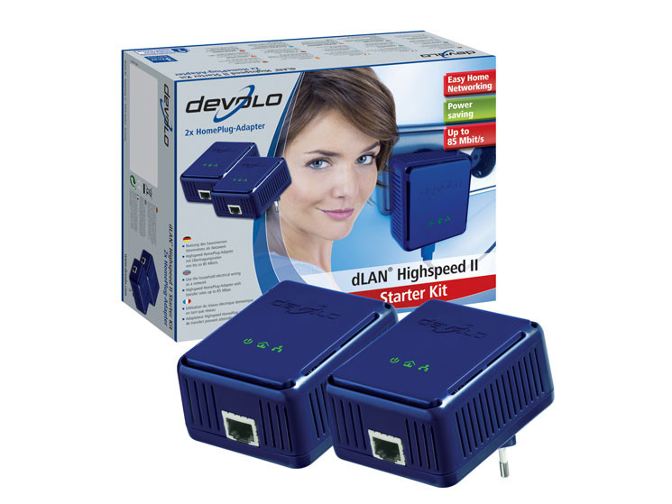 stromnetzwerk dlan highspeed ethernet ii adapter von devolo computer bild. Black Bedroom Furniture Sets. Home Design Ideas