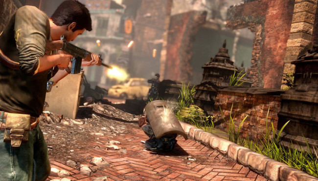 Actionspiel Uncharted 2 – Among Thieves: Schild