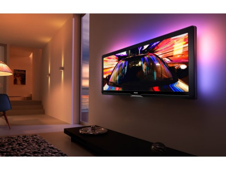 fernseher in 21 9 philips pr sentiert lcd tv im kinoformat audio video foto bild. Black Bedroom Furniture Sets. Home Design Ideas