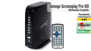 Multimedia-Festplatte Iomega Screenplay Pro HD: Video zum Testsieger