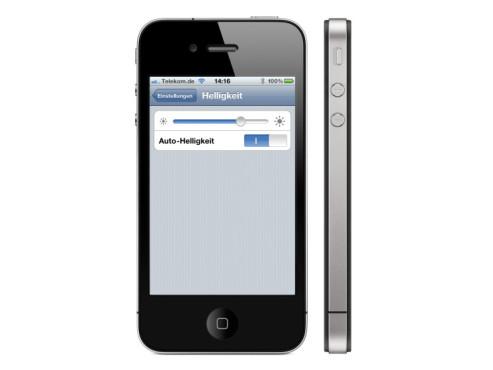 iPhone: Dunklerer Bildschirm spart Energie ©Apple