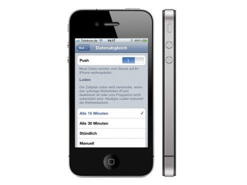 iPhone: E-Mails nur bei Bedarf abrufen ©Apple