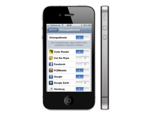 iPhone: GPS ausschalten spart Strom ©Apple