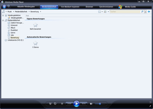 Media Player 11: einfache Navigation
