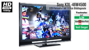 Video zum Test: LCD-TV Sony KDL-46W4500