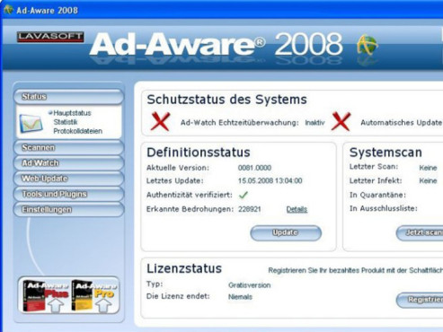 Ad-Aware 2008 © COMPUTER BILD