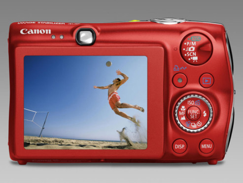 Canon Ixus 980 IS in Rot - Rückseite