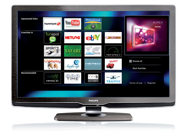 philips net tv internet angebote auf dem fernseher audio video foto bild. Black Bedroom Furniture Sets. Home Design Ideas